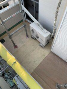 バルコニー床防水改修工事